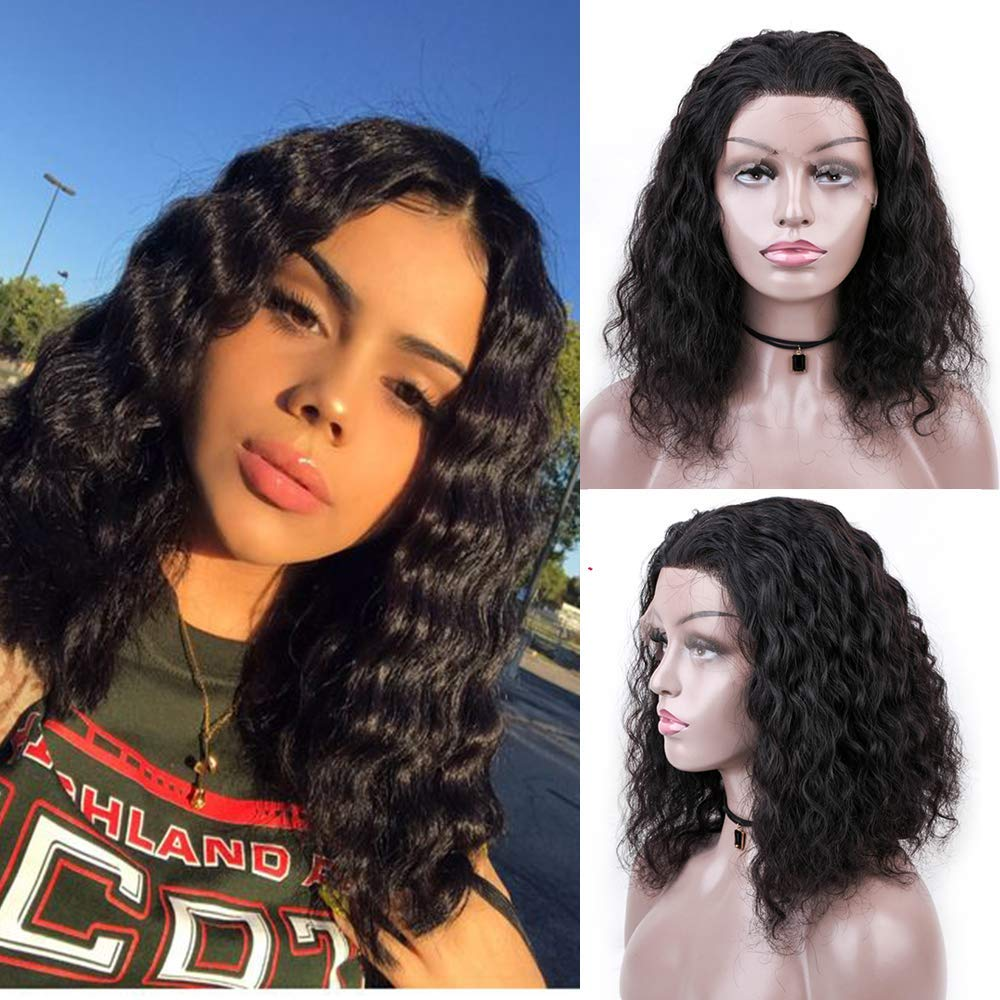 Brazilian Deep Curly Lace Front Wigs Glue-