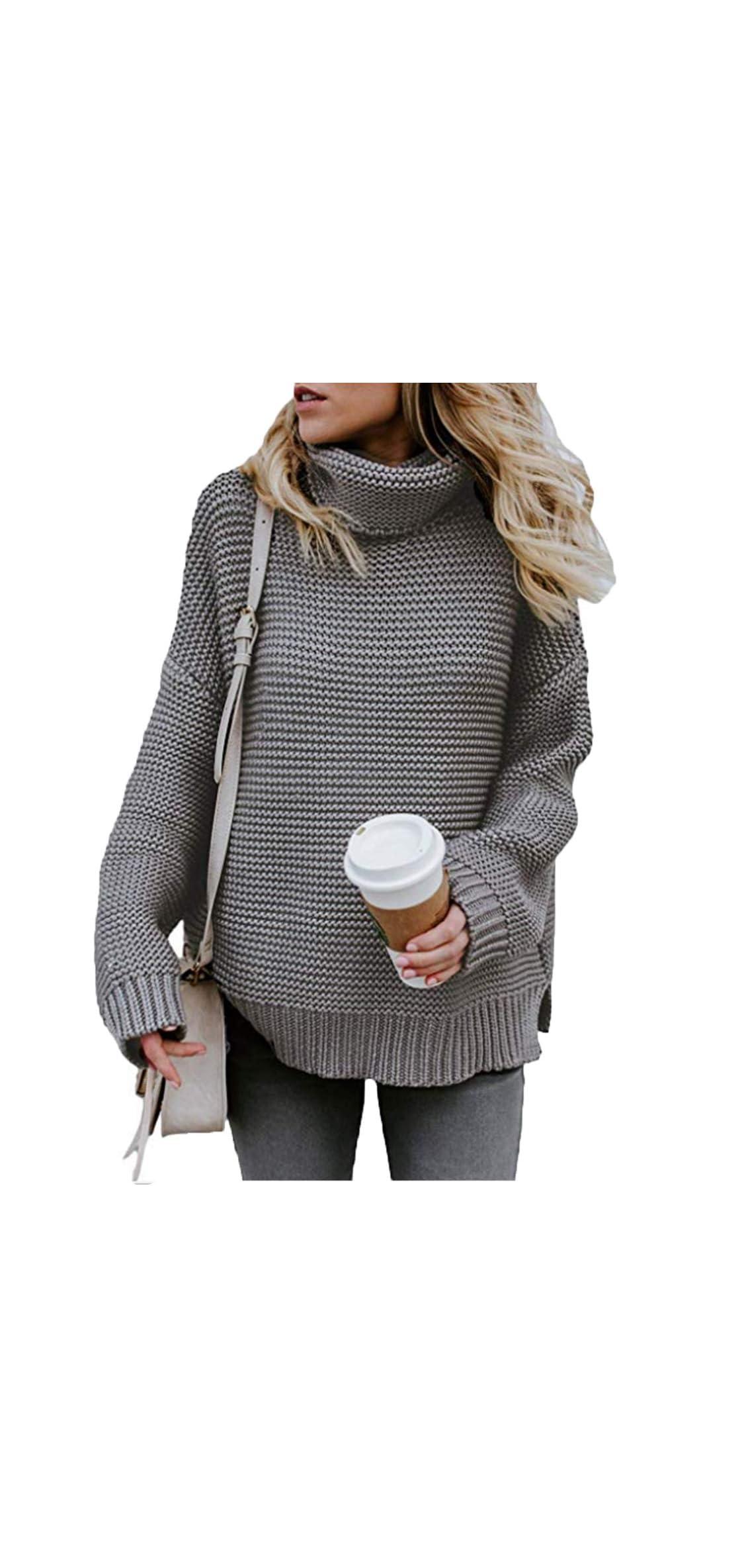 S-xl Women Turtleneck Long Sleeve Chunky Knit Casual