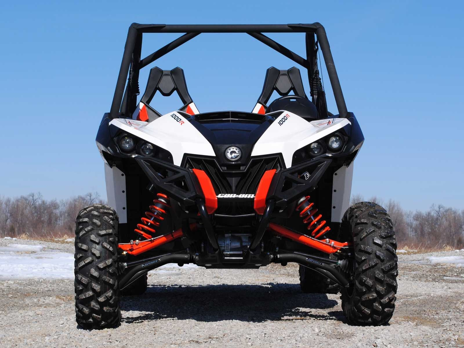 SuperATV High Clearance Front A-Arms for Can-Am Maverick DPS/XMR/XRS/MAX/Turbo (See Fitment) - Black by SuperATV.com (Image #3)