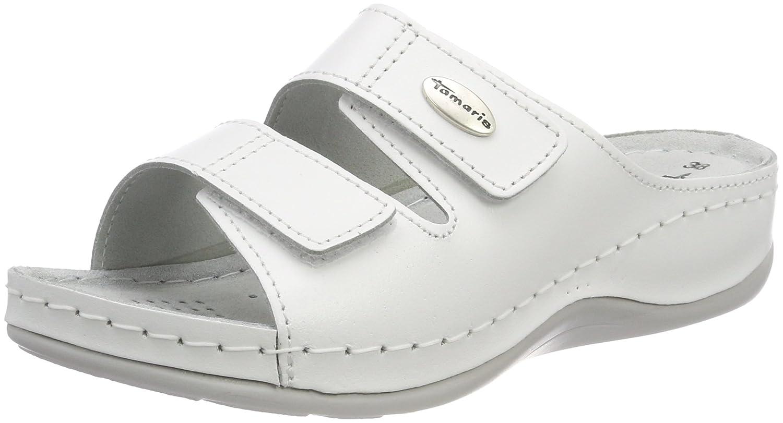 Tamaris 27510, 14716 Mules Femme Blanc Blanc (White Tamaris Leather) 62d84e4 - fast-weightloss-diet.space