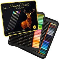 Black Widow Monarch Colored Pencils for Adults - 48 Coloring Pencils with Smooth Pigments - Best Color Pencil Set for…