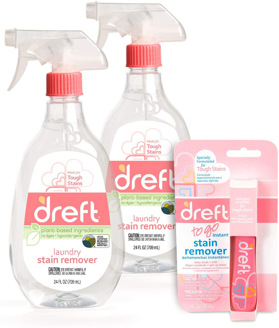 Dreft Stain Remover, 24 Ounce (Pack of 2) + Dreft Stain Pen