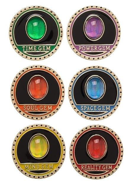 Mainstreet247 Avengers Infinity Wars Thanos Gems Enamel Metal Pin Set of 6  Pins