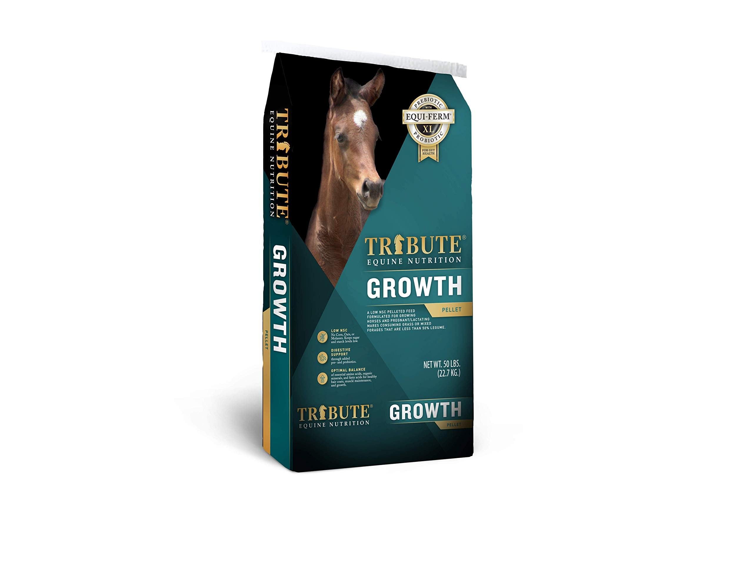 Kalmbach Feeds Tribute Growth Pellets for Horse, 50 lb by Kalmbach Feeds