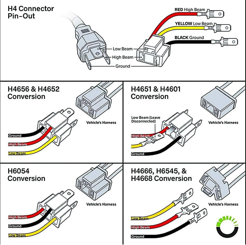 H4 Add light wiring harness kit HUIQIAODS H4 Headlight Bulb Ceramic Relay Wiring  Harness Socket Plug [ 994 x 1000 Pixel ]
