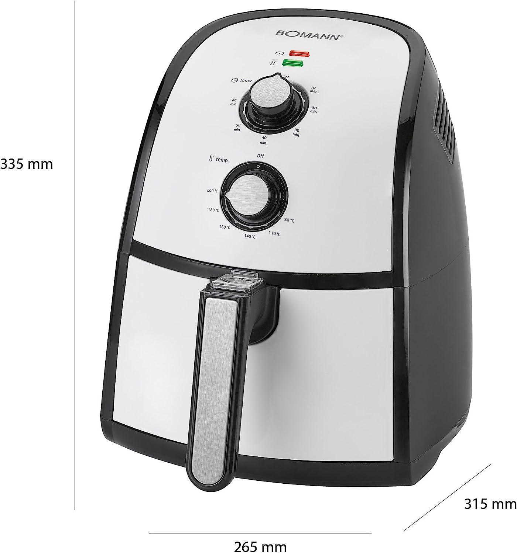 Bomann Freidora sin Aceite por Aire Caliente, Capacidad 2,2 L, Gris y Negro, 265 x 335 x 315 mm: Amazon.es: Hogar