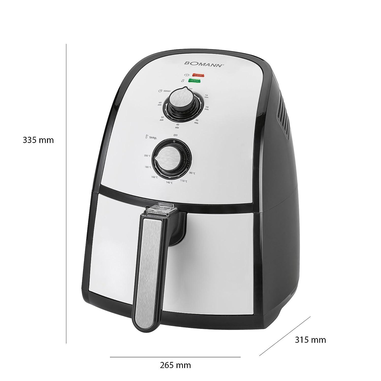 Bomann Freidora sin Aceite por Aire Caliente, Capacidad 2,2 L, Gris y Negro: Bomann: Amazon.es: Hogar