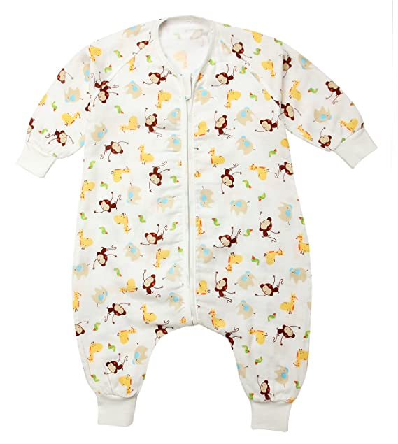 Happy cherry Saco de Dormir para Bebé de Verano Infantil Bolsa de Dormir sin Mangas Ligero con Dos Aberturas Slepping Bag Baby Transpirable con Patas: ...