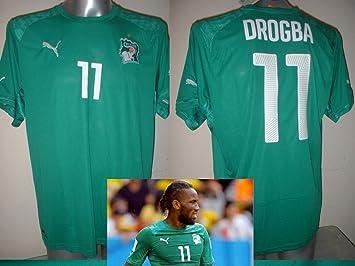 Costa de Marfil Drogba Puma – Camiseta de fútbol adulto mediano nuevo Chelsea Top