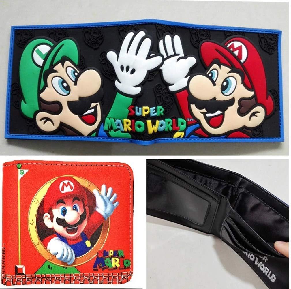 可愛い漫画の財布ゲーム Supe Mari World プリント財布 ファッショナブルなギフト キッズ 男の子 女の子 レザーショートウォレット   B07JQ9RSJ7