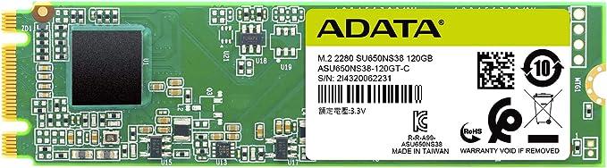 Amazon.com: ADATA SU650 240GB M.2 2280 SATA 3D NAND Internal SSD (ASU650NS38-240GT-C): Electronics