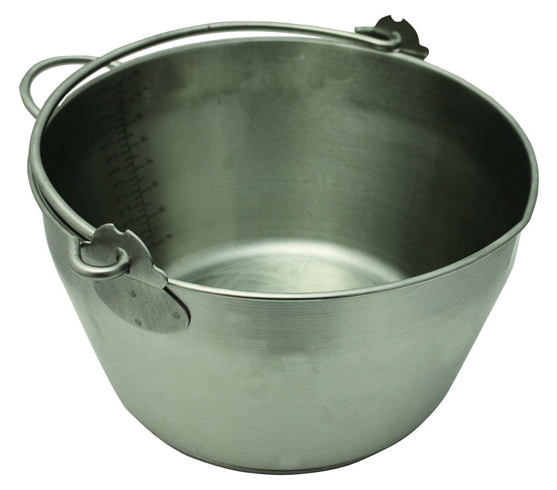Stainless Steel Jam Preserve Pan Bucket 8 Litre Jam Pan
