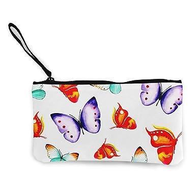 Amazon.com: Monedero de lienzo con estampado de mariposas ...