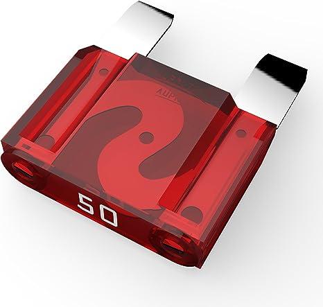 40A Fusibili Lamellari selezione 10A Ampere rosso AUPROTEC Fusibile Standard ATO 1A 50 pezzi