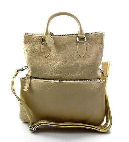 Borsa da spalla pelle donna borsa a tracolla pelle a spalla borsa beige  borsa vera pelle 9ecb8acb868