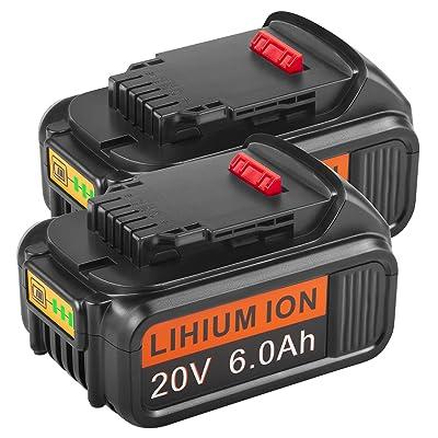 New For 20V 20 Volt Max XR 6000mAH Lithium Ion Battery DCB206-2 DCB205-2 DCB181