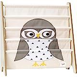 3 Sprouts Book Rack – Kids Storage Shelf Organizer Baby Room Bookcase Furniture, Owl