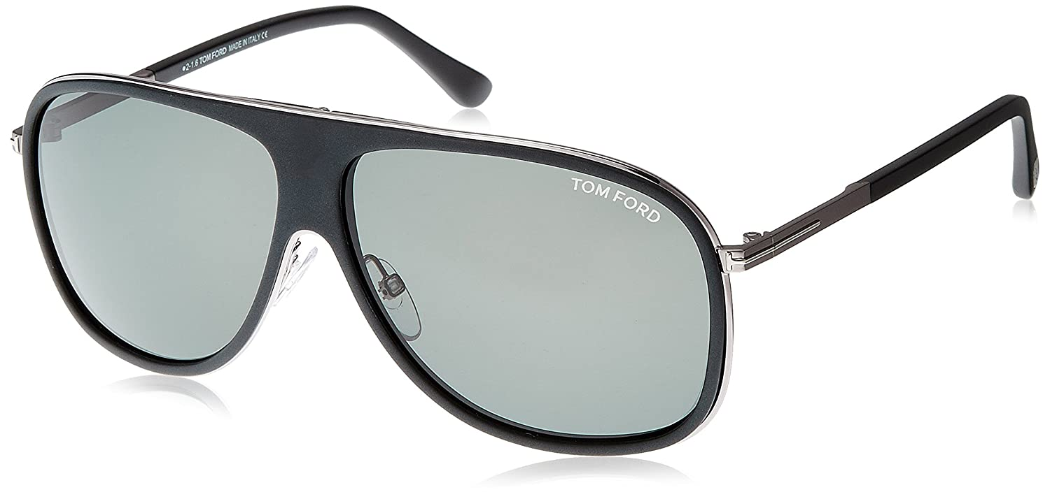 a8e1c5a5a3f Amazon.com  Tom Ford 462 02N Matte Black Chris Pilot Sunglasses Lens  Category 3 Size 62mm  Clothing