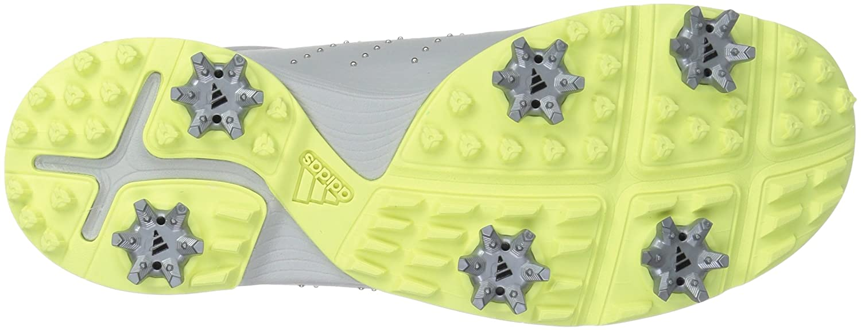 adidas Women's W Adipure DC Golf Shoe B0723CGPYN 9 B(M) US Grey One/Silver Met./Semi Frozen Yellow