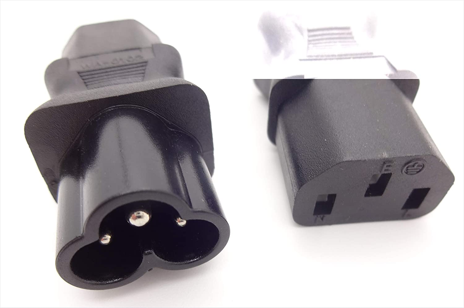 Cablecc IEC 320 C8 Plug to C5 Receptacle Cloverleaf Power Supply Mains Adapter Convertor