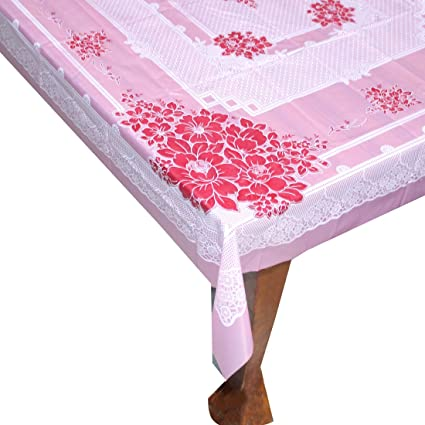 Buy Hd Fashion Flower Classic Printed Plastic Table Cover Pink