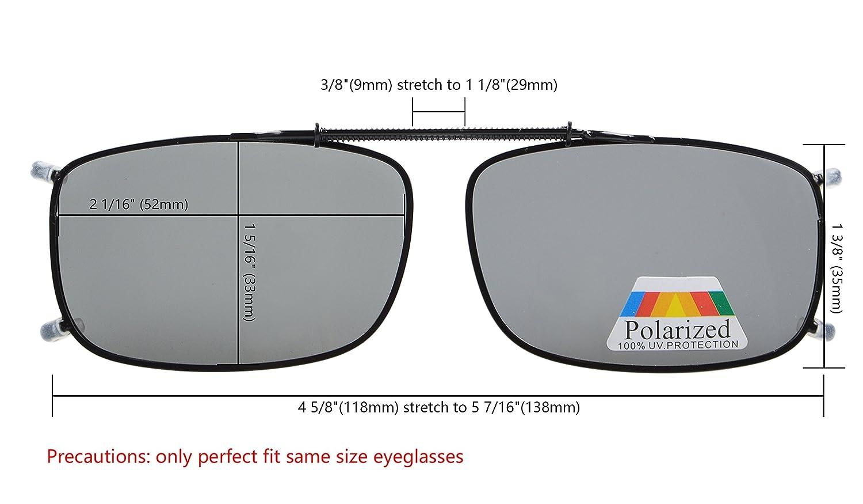 47a766e8981e Amazon.com  Eyekepper Grey Brown G15 Lens 3-pack Clip-on Polarized  Sunglasses 2 1 4