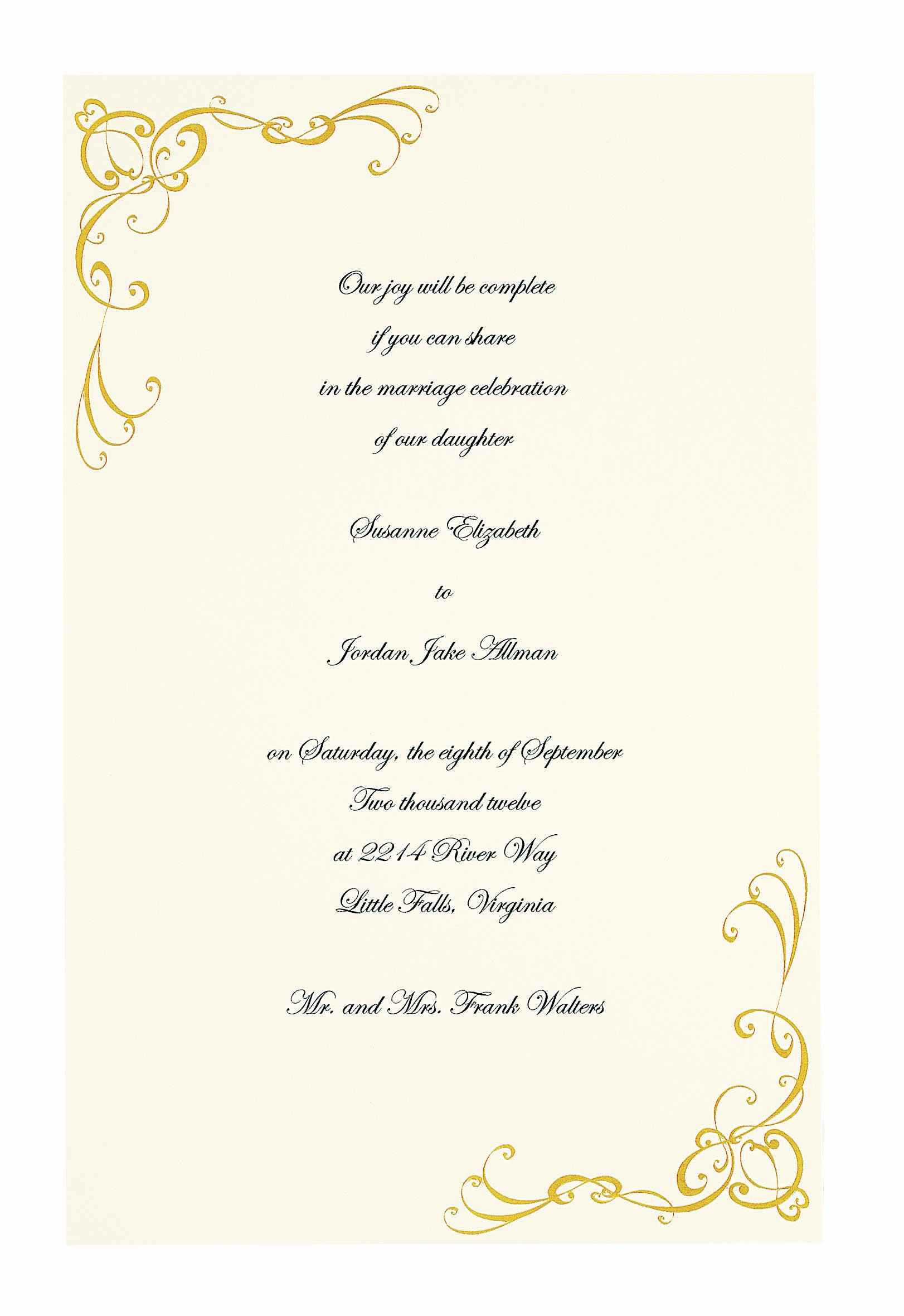 Wilton 50-Pack Scrollwork Invitation, Gold