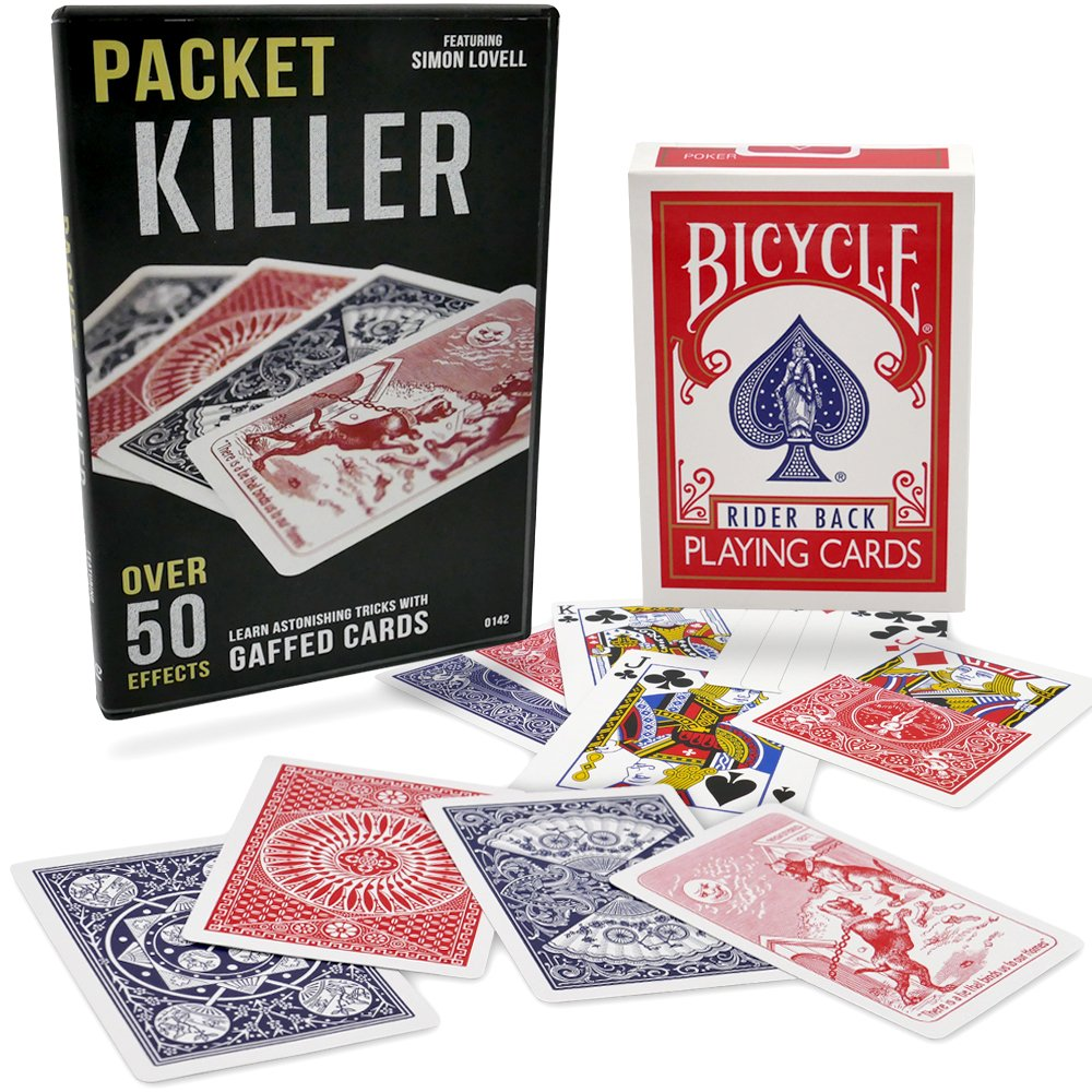 Packet Killer 45 Tricks with Special Bicycle Deck by Magic Makers (Image #1)