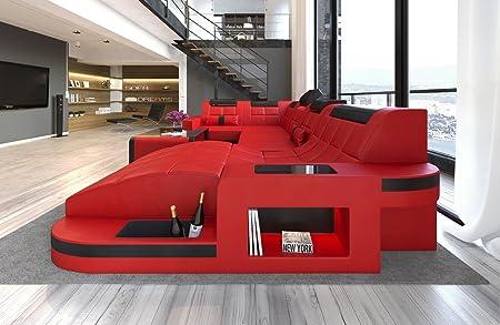 Divano Pelle Di Bufalo Rosso.Sofa Dreams Pelle Interni Casa Wave A Forma Di U Rosso Nero