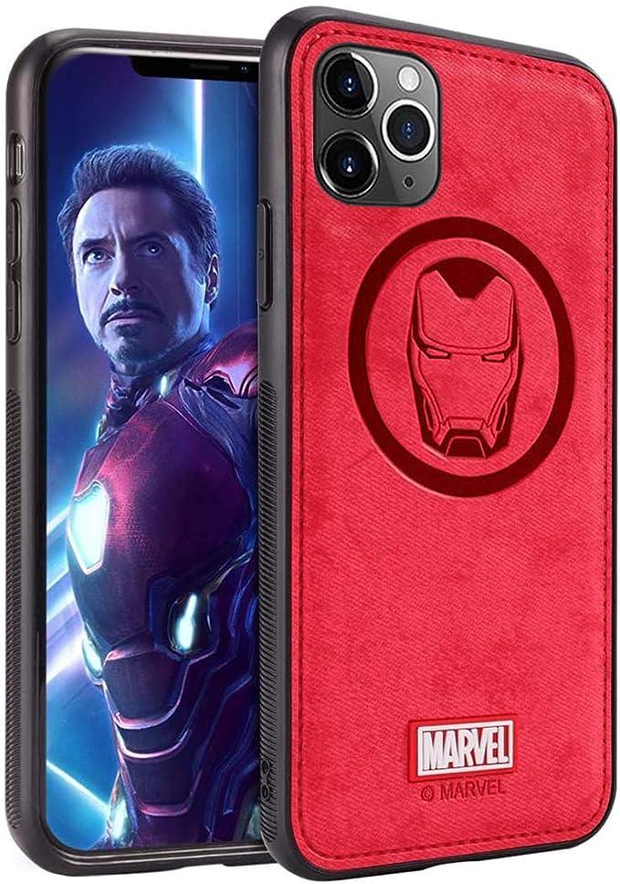 TinPlanet Marvel Avengers Coque iPhone 11, Case pour Apple iPhone 11 6,1 Pouces, Iron Man, Red