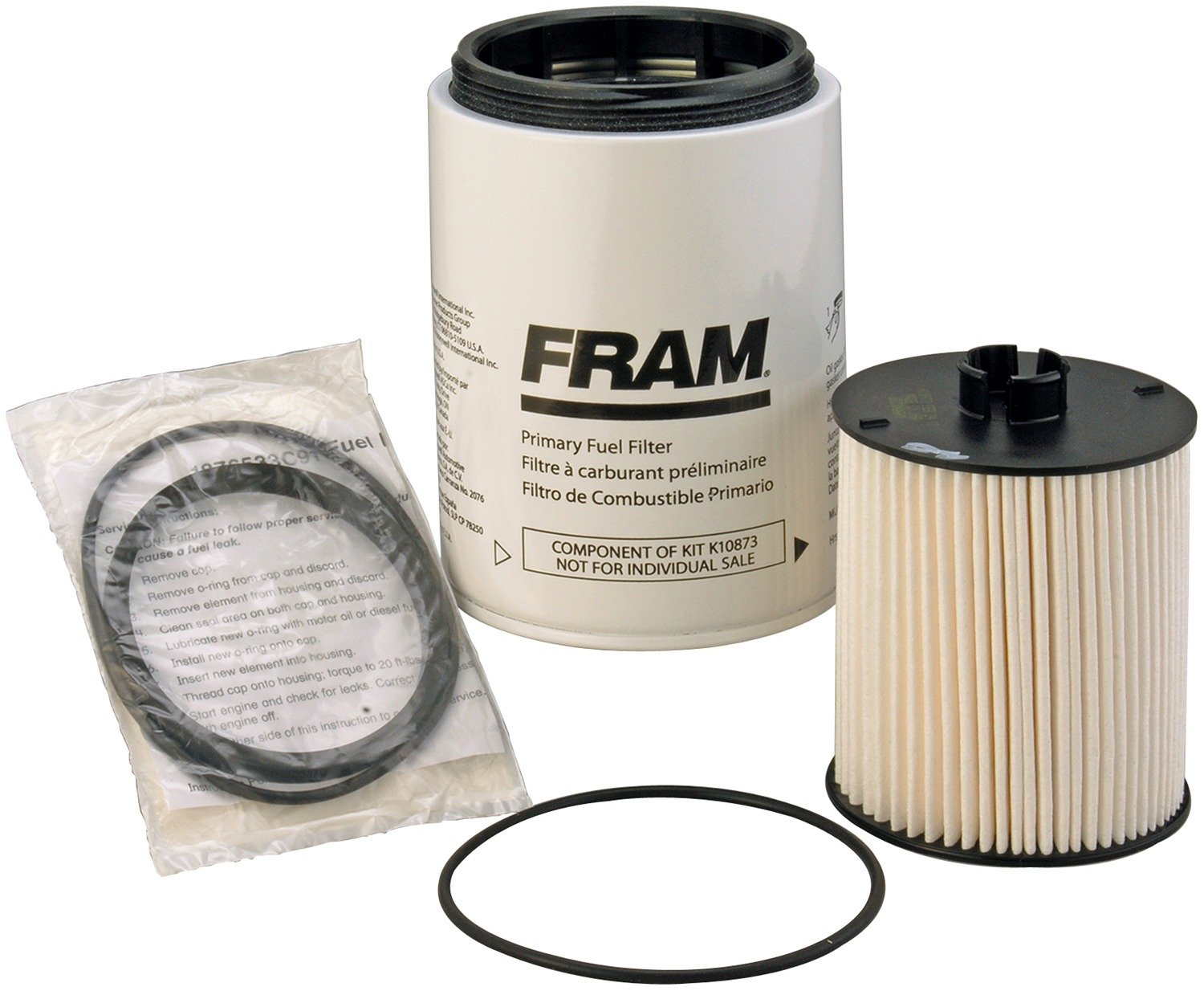 Fram K10873 Heavy Duty Fuel Filter Kit Automotive 2001 Jeep Wrangler