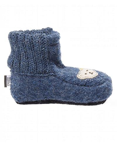 140717cf6f2a16 Steiff Knopf im Ohr Schuhe - Hausschuhe Kinder und Baby blau Bastian ...