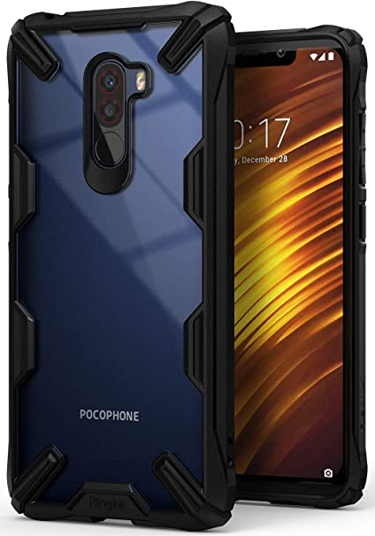 quality design 533a7 bb31b Ringke [Fusion-X] Compatible with Poco F1 Back Case Cover Ergonomic  Transparent [Military Drop Tested Defense] Hard PC Back TPU Bumper Impact  ...