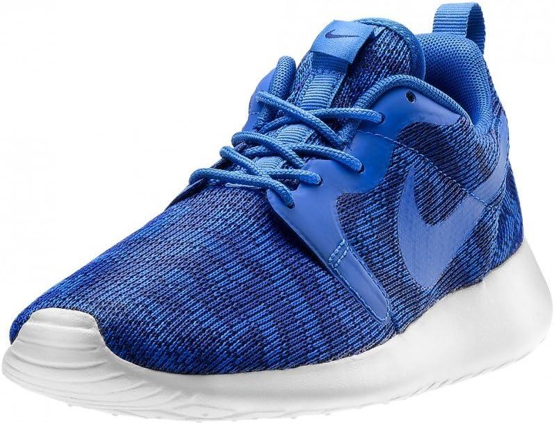 Nike Dames Roshe Run Gebreide Jacquard Lage Top Trainer Deep Royal Blue Soar Pure Platinum 401