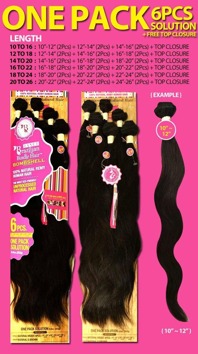 Amazon Janet Collection Unprocessed Brazilian Virgin Remy