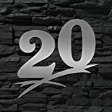T/ürschild ORIGINAL ALEZZIO DESIGN 16cm Ziffernh/öhe Hausnummer Edelstahl 28 - 16cm 20cm 30cm 40cm 50cm WITTERUNGSRESISTENT /… V2A LEICHTE MONTAGE