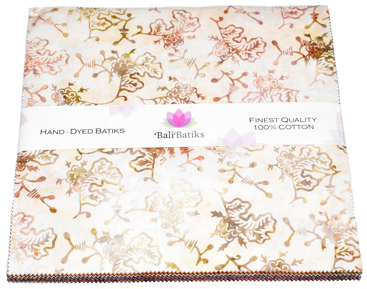 Bali Batiks 40 10'' x 10'' Premium Batik Squares Layer Cake (2 X 20 Colors) JC7005 by Java Batiks