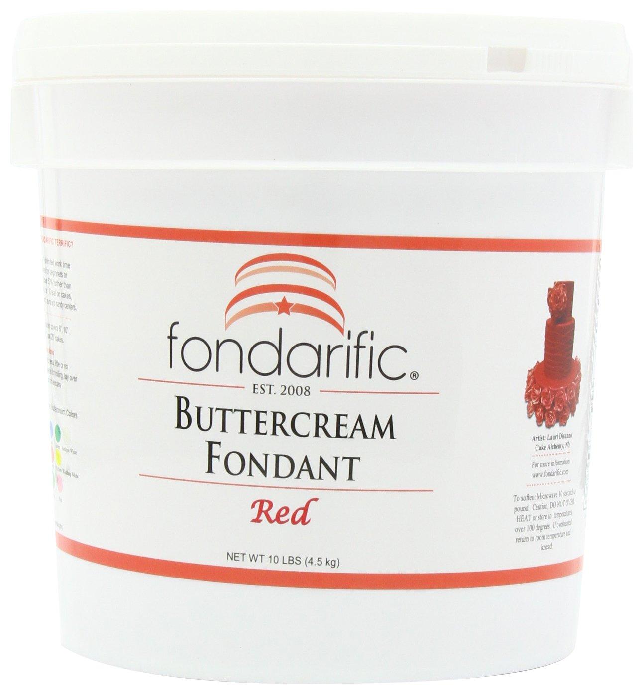 Fondarific Buttercream Red Fondant, 10-Pound Bucket