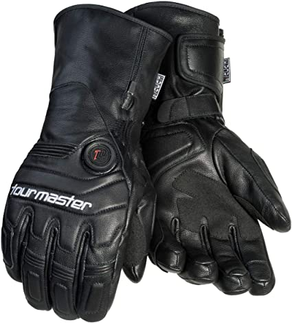 Tour Master Synergy 7.4V Mens Leather Street Racing Motorcycle Gloves