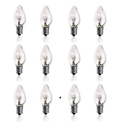 7 Watt Night Light Replacement Bulbs   10 Pack + 2 Free, Salt Lamps U0026