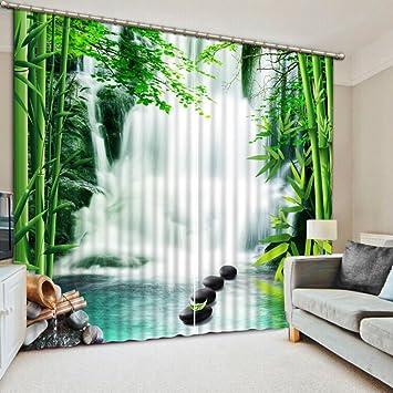 Chlwx Bambus Vorhang Für Wohnzimmer Schlafzimmer Wasserfall