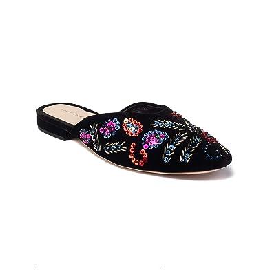 loeffler slip   Loeffler Randall Women's Suede Quin Slip On Mule Shoes ...