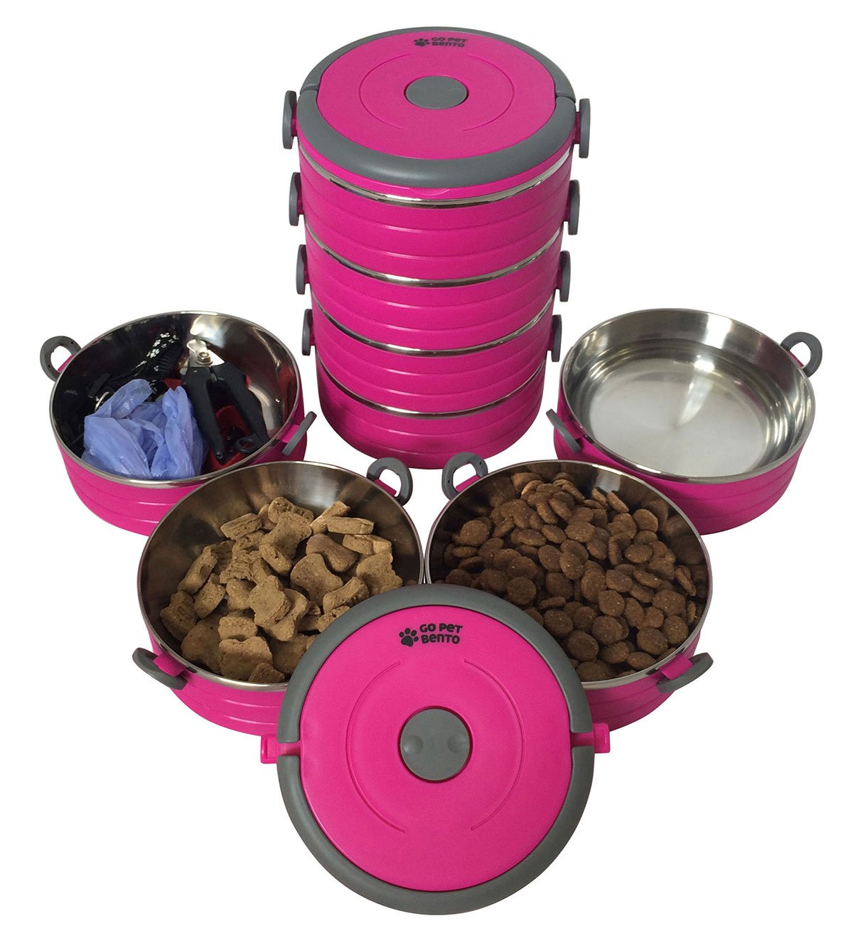 Water Rover Portable Pet Bowl: Stainless Steel Travel Dog Pet Bowl