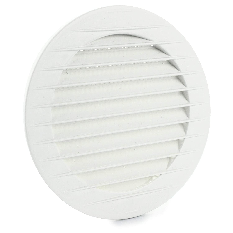 Metall L/üftungsgitter /Ø 160 mm Verzinkt Abluftgitter rund mit Insektenschutz