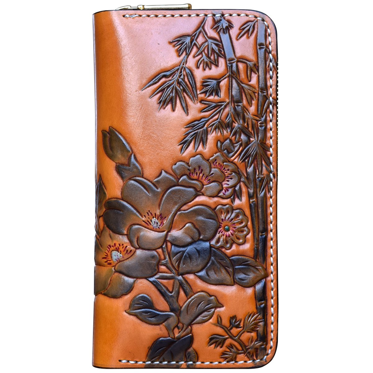 OLG.YAT Vegetable tanned leather Retro Genuine Leather Men's Wallets 20HZPD by OLG.YAT