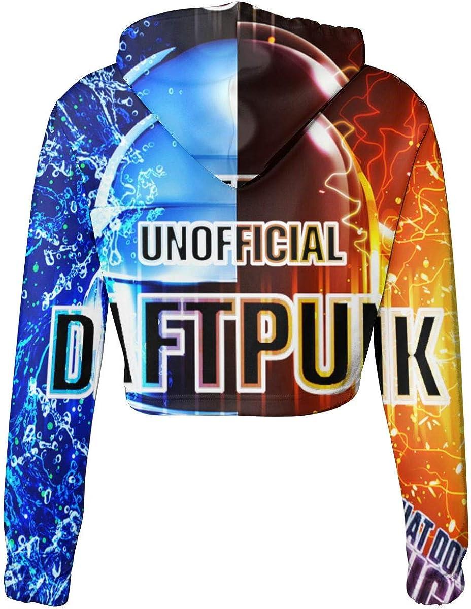 KegamiMisa Daft Punk Womans Music Dew Navel Cropped Sweater