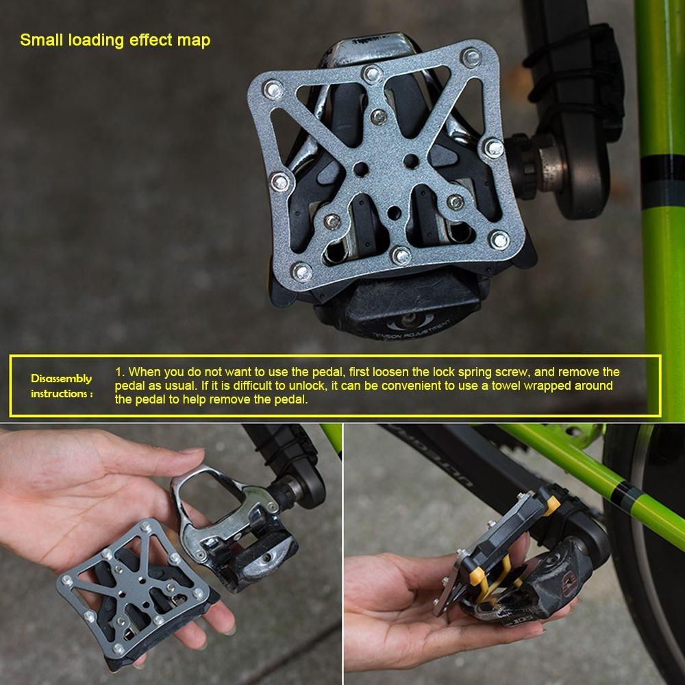 pedal con clip Adaptador de plataforma para bicicleta compatible con KEO SPD Speedplay sin clip Kobwa