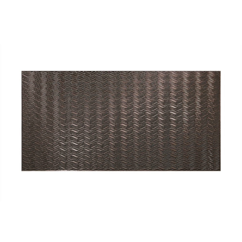 Fasade - Current Horizontal Smoked Pewter Decorative Wall Panel - Fast and Easy Installation (4' X 8' Panel) by Fasade