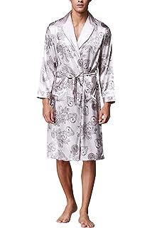 47e10ccfc7f6e8 TT Global Herren Kimono Bademäntel Robe mit Gürtel, Herren 45