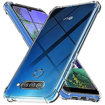 Ferilinso Funda para LG Q60, Ultra [Slim Thin] Resistente a los arañazos TPU Caucho Piel Suave Silicona Funda Protectora para LG Q60 (Transparente)